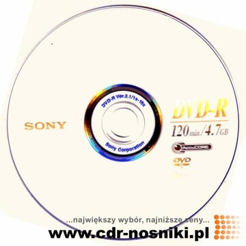 DVD+R 4,7 GB x16 SONY