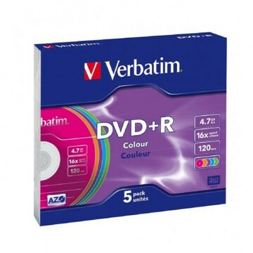 DVD+R 4,7 GB x16 VERBATIM  COLOR SLIM